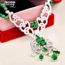 necklace stone setting images Vintage gold emerald green stone setting rhinestones chocker jpg