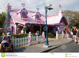chambre minnie mouse minnie mouse s house disneyland orlando florida editorial stock