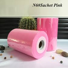 tulle spool 6 inch tulle rolls 15cm 100 yards fabric sachet pink color tulle