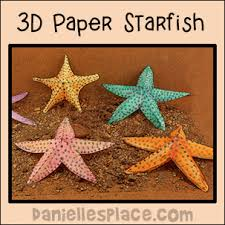 starfish decorations 3d paper starfish patterns printable craft patterns