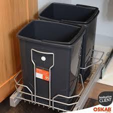 bac poubelle cuisine poubelle sous evier ouverture automatique maison design bahbe com