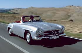 here comes the newbie the mercedes benz 190 sl first time at the