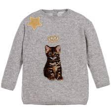 cat sweater gabbana baby grey zambia cat sweater childrensalon