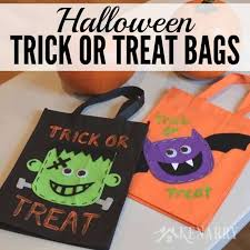 trick or treat bags trick or treat bags an easy diy idea