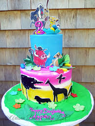 Tropical Themed Cake - tiered buttercream cakes special occasion cakes specialty theme