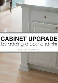 Adding A Kitchen Counter Post Kitchens House And Decorating - Kitchen cabinet trim