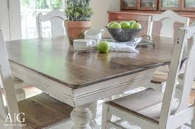 Refinishing A Kitchen Table by 15 Stunning Diy Dining Table Makeovers Little Red Window