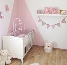 chambres bébé fille la décoration de chambre bébé en poudré de léna idées