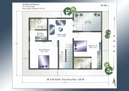 beautiful east face 2 bhk house plan kerala including plans sq ft