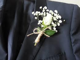 boutonniere mariage diy blanche akito et gypsophile boutonnières mariage