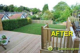 Decking Ideas For Sloping Garden Garden Makeovers Before After Ct Landscapes