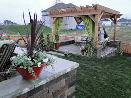 Pergola Backyard Ideas Garden Outstanding Green Yard Crasher House Gardens