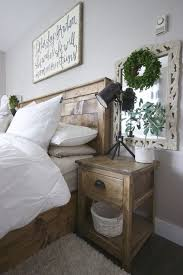 distressed white side table painted side tables in rustic bedroom farmhouse bedroom distressed