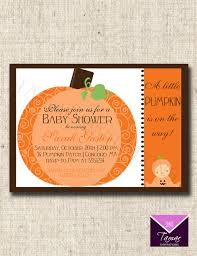 pumpkin baby shower invitations template best template collection