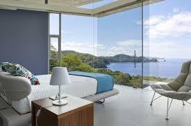 chambre vue mer villa contemporaine à costa rica avec vue sur la mer