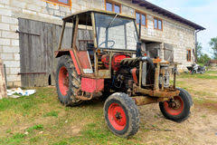 Tractor Barn Old Barn And Red Tractor Stock Photo Image Of Blue Rusty 31440234