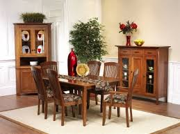 newport shaker corner hutch amish dining room furniture sugar