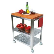 John Boos Kitchen Island by Kitchen Carts Cucina Culinarte Cherry Removable Top Towel Bar