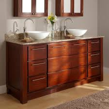 60 Inch Double Sink Bathroom Vanities by Bathroom Mahogany Double Vessel Sink Bathroom Vanity Set With