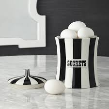 Black Kitchen Canister Set Secrets Black And White Canister Modern Dining Jonathan Adler