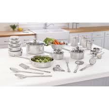 kitchen essential mainstays 40 piece stainless essential kitchen set walmart com