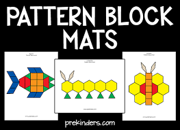 pattern block mats pattern blocks christmas themes and printables