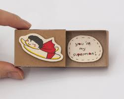 anniversary card card you are my superman matchbox by shop3xu