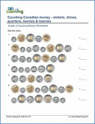 grade 3 mathematics grade 3 counting money worksheets free printable k5 learning