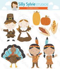 thanksgiving clip pilgrims turkey american