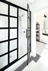 Black Shower Door Industrial Shower Door Glassnyc Co