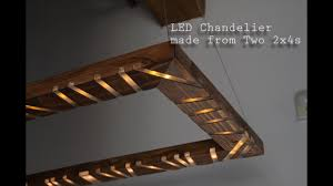 Diy Led Chandelier How To Make An Led Chandelier With Visualizer Out Of 2x4s