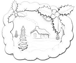 9 images of snow forest scene coloring pages realistic deer