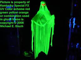 halloween floating blacklight ghost prop realistic green skeleton