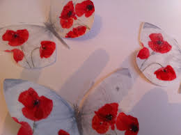 poppy home decor red poppy wall decor 3d butterflies poppies home accessories