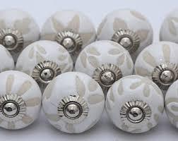 Porcelain Knobs For Kitchen Cabinets Ceramic Knob Etsy