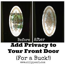 window treatments for doors with glass add privacy to a glass front door for a dollar front doors