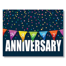 work anniversary cards anniversary color banner card work anniversary card