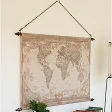 World Map Wall Decor