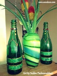 Upcycled Wine Bottles - art idea to upcycle wine bottles indian woodworking diy arts