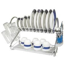 kitchen dish rack ideas amazon com better chef dr 22 chrome 2 tier dish rack 22 inch