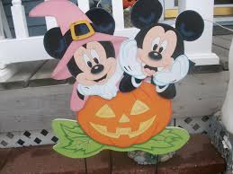 halloween yard sign disney mickey and friends collection rich