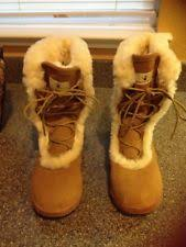 bearpaw womens boots size 9 winter lace up boots bearpaw for ebay