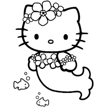 hello kitty mermaid coloring pages to invigorate to color page