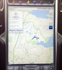 Navigation Map My Tesla Model S The Navigation System