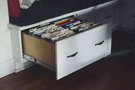 storage bench file cabinet clever office unexpected space offices window and storage