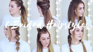 heatless hair styles 6 cute easy braided heatless hairstyles zoe mountford