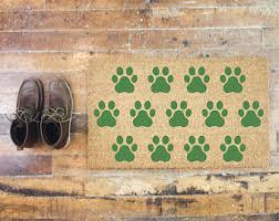 Wipe Your Paws Footprint Doormat Paw Print Door Mat Etsy