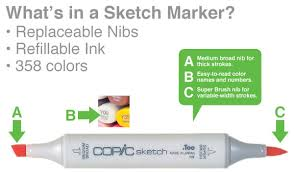 copic sketch markers 12 color ex sets at guiry u0027s color source