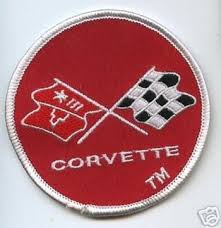 c3 corvette flags c3 corvette 1968 1982 embroidered crossed flags patch 3
