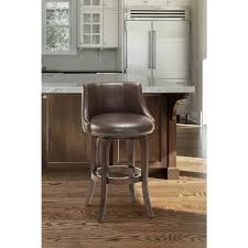 Linon Home Decor Bar Stools by Linon Home Decor Claridge 32 In Dark Brown Cushioned Bar Stool
